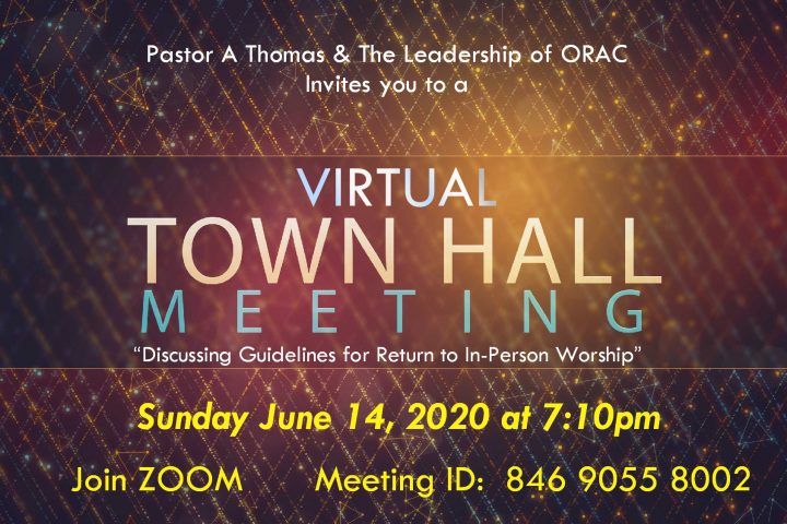 ORAC Virtual Town Hall Meeting