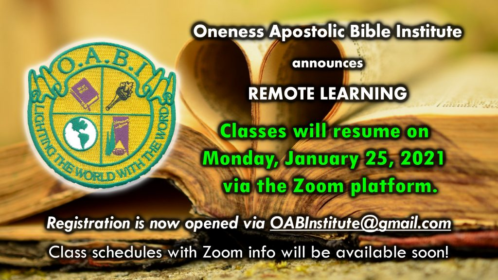OABI Remote Learning